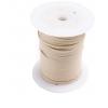 Cotton Wax Cord 3mm Flat Natural